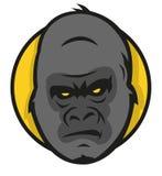 风格化大猩猩商标 免版税库存图片