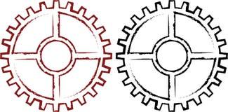 风格化工业齿轮 库存图片