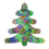 风格化抽象分数维圣诞树设计 皇族释放例证