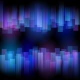 风格化抽象极光 免版税库存图片