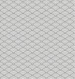 风格化无缝的样式由黑线弧制成 免版税图库摄影