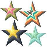 风格化星商标 图库摄影