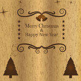 风格化木圣诞节背景 免版税图库摄影