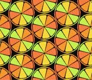 风格化柑橘无缝的样式 库存图片