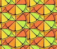 风格化柑橘样式 免版税库存照片