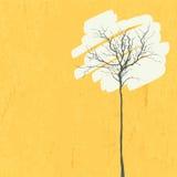 风格化树。减速火箭的背景 免版税库存图片