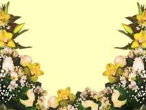 风格化框架花卉无缝的样式-邀请的花束 免版税库存图片