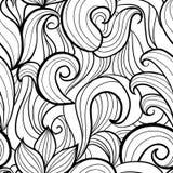风格化波浪无缝的样式 向量例证