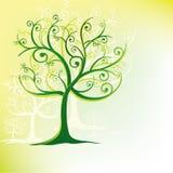 风格化漩涡结构树 免版税库存图片