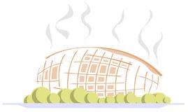 风格化烤牛肉用被隔绝的土豆 库存例证