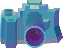 风格化照相机-例证 免版税库存照片