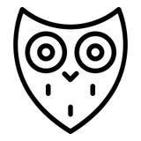 风格化猫头鹰顶头象,概述样式 向量例证