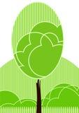 风格化结构树向量 库存例证