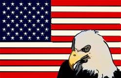 风格化美国国旗老鹰 免版税图库摄影