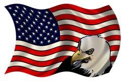 风格化美国国旗老鹰 免版税库存图片