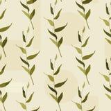 风格化艺术背景 r 在浅绿色的背景的土气无缝的样式 向量例证