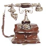 风格化葡萄酒电话 免版税库存照片