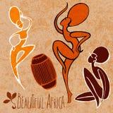 风格化跳舞非洲人女孩 免版税库存图片
