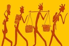 风格化非洲图 皇族释放例证