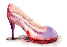 风格化鞋子 库存图片