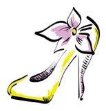 风格化鞋子 免版税图库摄影