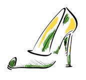 风格化鞋子 向量例证