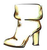 风格化鞋子 库存例证