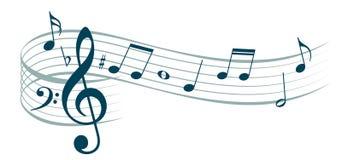 风格化音乐笔记 库存例证
