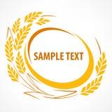 风格化麦子耳朵象征 免版税库存图片