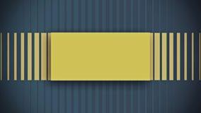 风格化黄色坚实元素平的动画 库存例证