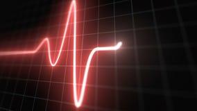 风格化EKG法线,红色 向量例证