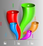风格化infographics介绍,选择模板 向量例证