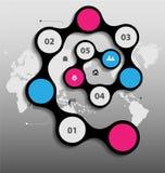 风格化infographics介绍,选择模板 皇族释放例证