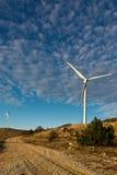 风涡轮在克罗地亚 免版税库存图片