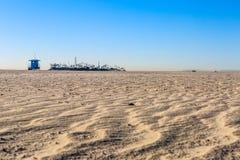 风清扫了海滩油海岛 库存照片
