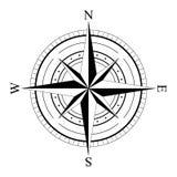 风玫瑰色compas 皇族释放例证
