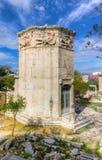 风的塔,雅典,希腊 免版税库存照片