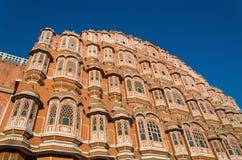 风的宫殿在斋浦尔,拉贾斯坦,印度 库存照片