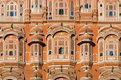 风的宫殿, Hawa玛哈尔在斋浦尔 图库摄影