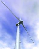 风的接近的涡轮 免版税库存图片