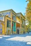 风的装饰在Golestan,德黑兰耸立大厦 免版税图库摄影