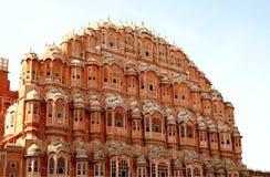 风的Hawa玛哈尔宫殿,斋浦尔,印度 免版税图库摄影