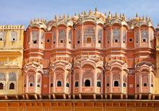 风的Hawa玛哈尔宫殿,斋浦尔,印度 免版税库存照片