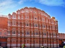 风的Hawa玛哈尔或宫殿,斋浦尔,印度 免版税库存照片