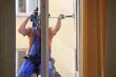 风窗清洁器洗涤玻璃 库存图片