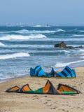 风筝冲浪者准备 免版税图库摄影