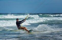 风筝冲浪者在澳大利亚 免版税库存图片