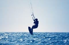 风筝冲浪者 库存照片