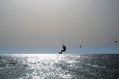 风筝冲浪 Kiteboard, 库存照片