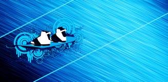 风筝和wakeboard bacground 免版税图库摄影